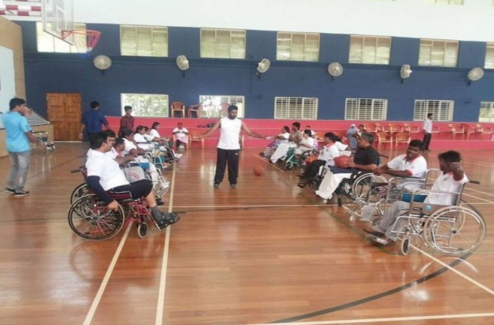 Wheelchair basketball workshops in Cochin