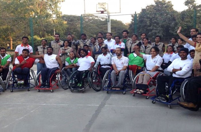 Wheelchair basketball workshops in Delhi